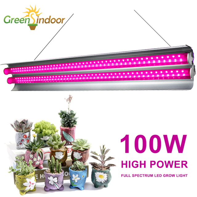 Full Spectrum 100W LED Grow Light Indoor Strip Growth Lamp For Plants Growing Tent Fitolampy Phyto Seed Flower Growth Light Bulb 1