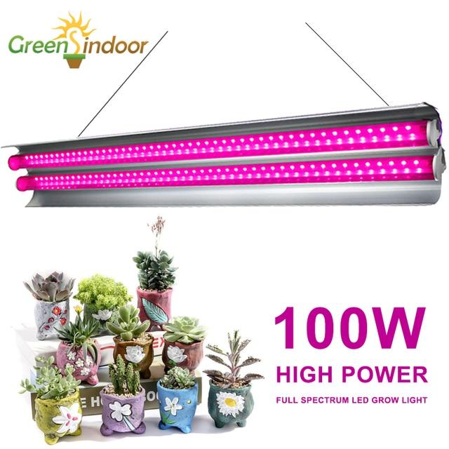 Светодиодсветильник лампа полного спектра для выращивания растений, 100 Вт