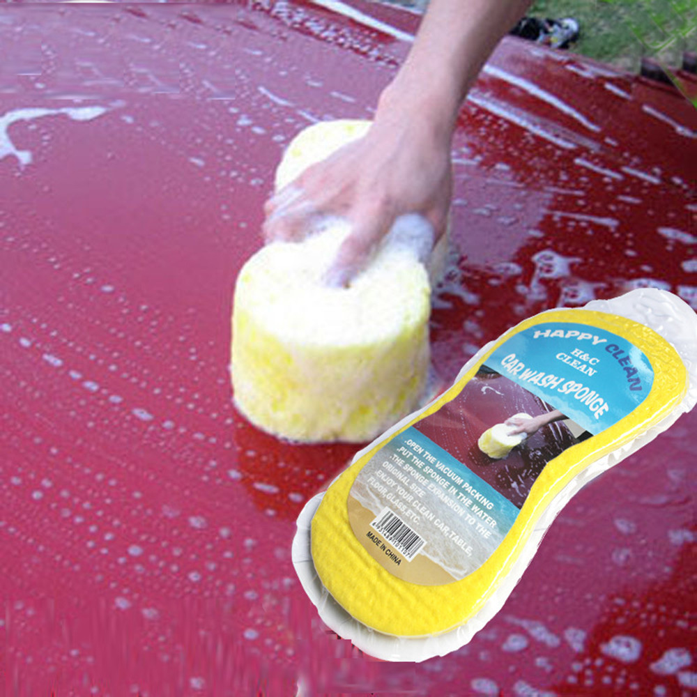 Multifunction Large 8-character Vacuum Compressed Auto Paint Care Cleaning Tool   Multipurpose Car Washing Sponge