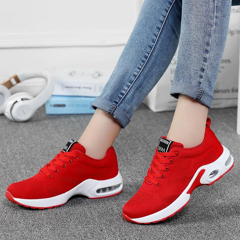 Купить женские кроссовки на платформе damyuan повседневные дышащие