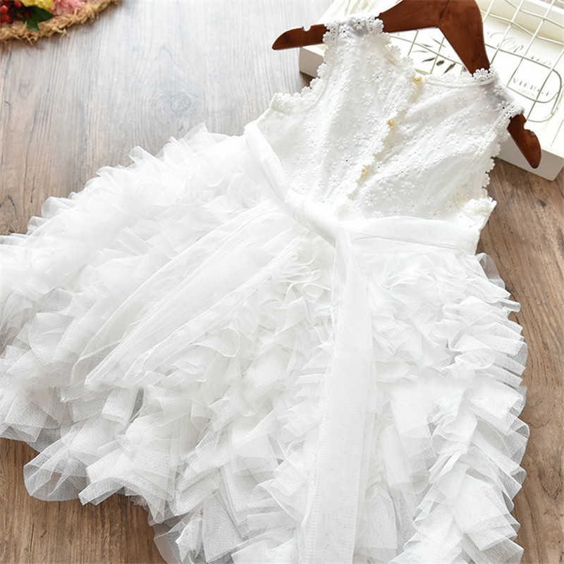 Children Formal Clothes Kids Fluffy Cake Smash Dress Girls Clothes For Christmas Halloween Birthday Costume Tutu Lace Outfits 8T 3