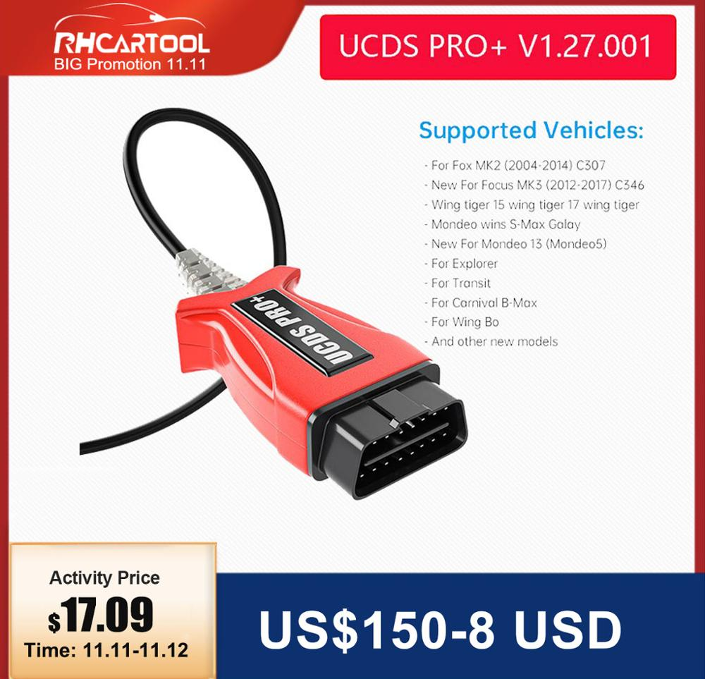Car accessories OBD2 Diagnostic tool UCDS Pro for UCDS PRO UCDSPRO Software V1 27 Full Function FOR Ford Focus 3 for Ford kuga1