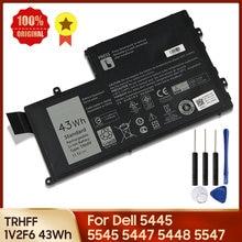 100% Оригинальный Батарея TRHFF 1V2F6 для Dell 5445 5545 5447 5448 5547 5548 3550 Inspiron 15