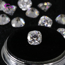 Lab Grown  Moissanite Gemstone D Color 2.5 Carat 8*8 mm VVS Cushion Cut 3 Excellent Wholesale For Ring Bracelet Necklace Earring