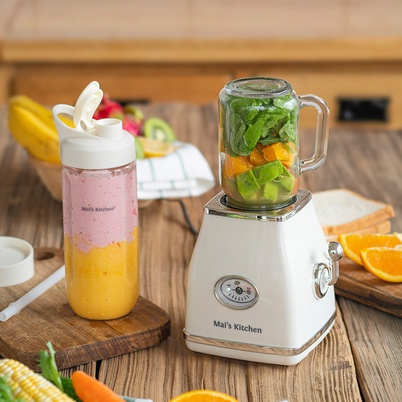 Vintage Design Juicer Machine Soy Milk Maker Mini Household Juicer Cup Blender Electric Juice Extractor Smoothie Orange Squeezer