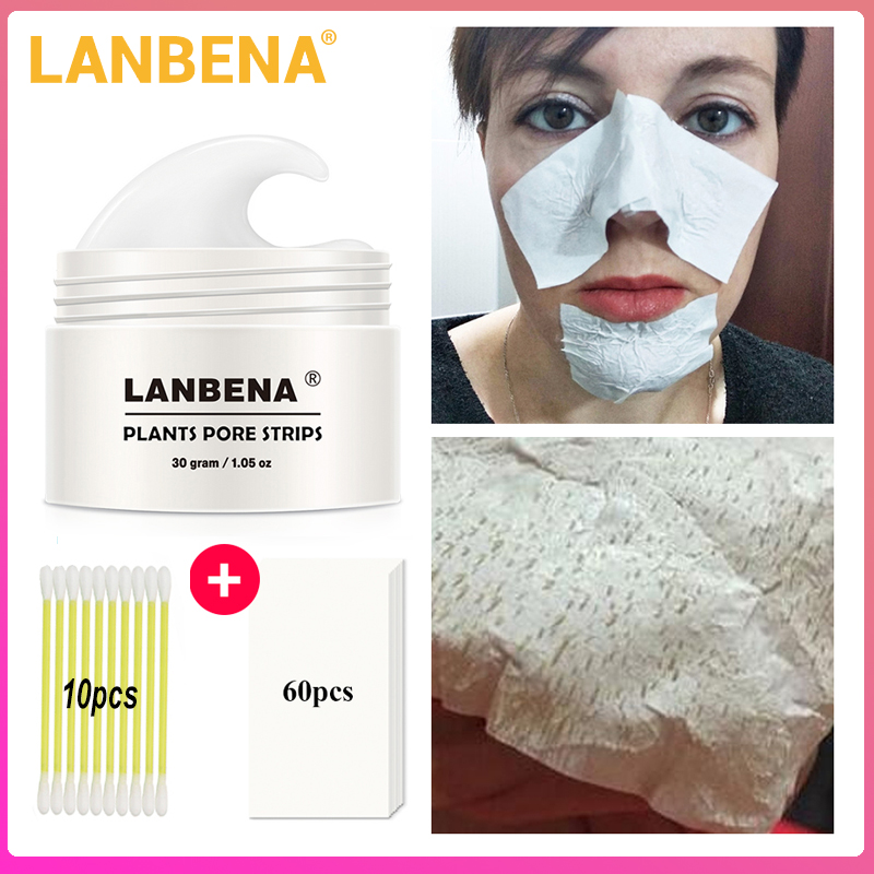Skin Beauty LANBENA Blackhead Remover Nose Mask Pore Strip Black Mask Peeling Acne Treatment Black Deep Cleansing Skin Care