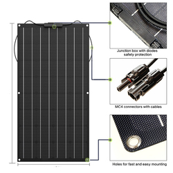 Wodoodporny i odporny na ciepło 100W ETFE elastyczny Panel słoneczny z niską ceną