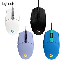 Rato do jogo de logitech g102 lightsync 6 botões programáveis 200-8000 dpi luz rgb ajustável usb prendido ratos para jogos de pubg
