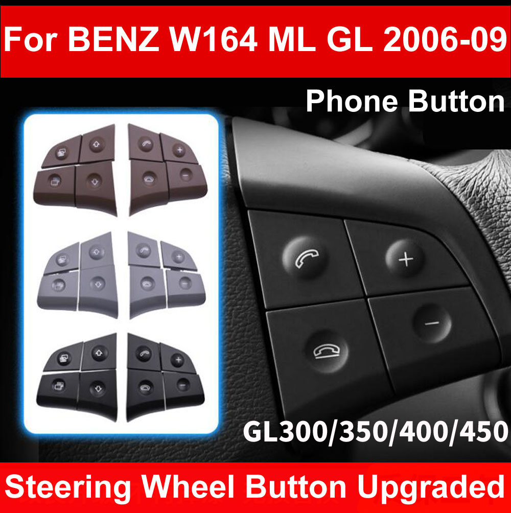LHD RHD Автомобильный многофункциональный рулевого колеса левой и правой кнопки телефона ключ Управление для Mercedes Benz W164 мл GL300/350/400/450 06 09