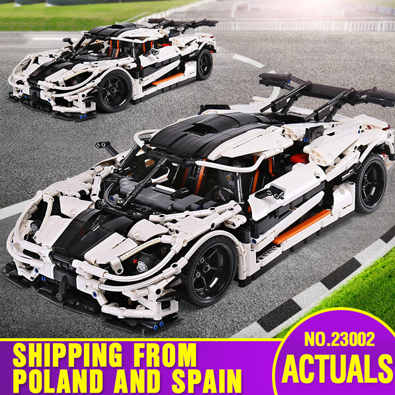 Yeshin 23002 Technic Car Compatible With Legoing MOC-4789 White Speed Race Car Model Toys Building Blocks Kids Christmas Gifts