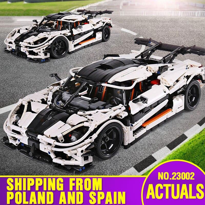 >Yeshin 23002 Technic <font><b>Car</b></font> Compatible With <font><b>Legoing</b></font> MOC-4789 White Speed Race <font><b>Car</b></font> Model Toys Building Blocks Kids Christmas Gifts