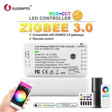 zigbee remote control RGB WW/CW Led Controller DC12/24V led strip controller smart Voice control work with amazon echo plus LED(China)