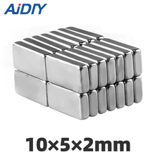 AI DIY 20/50/100pcs 10mm x 5mm 2mm neodymium magnet super strong power Fridge Cuboid Block rare earth N35 magnets 10 * 5