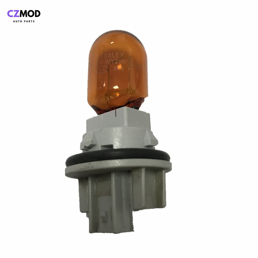 CZMOD Original WY21W 12V <font><b>21W</b></font> Natural Amber Glass Halogen Lamp headlight turn signal holder&bulb side light used car accessories image