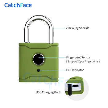 Bluetooth Smart Padlock Fingerprint Lock Smart Lock Keyless with TTlock App