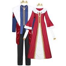 Рождественский Костюм Королевы королевы Британский мужской костюм