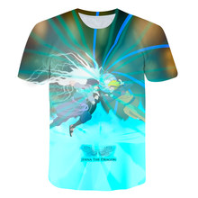 2021 new game T-shirt children's hot sale 3D boys' 4-14t children's short sleeve casual sports shirt