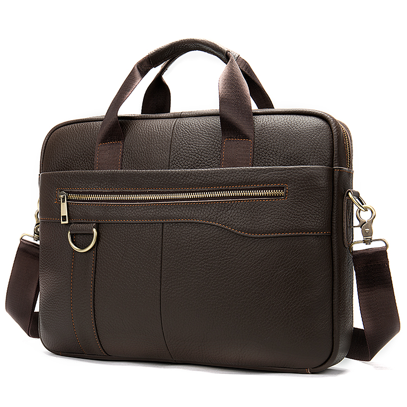 Leather Messenger Bag Men Genuine Leather Laptop Bag Men Briefcase Business Handbag Man Briefcase Laptop Aktetas Mannen     8629