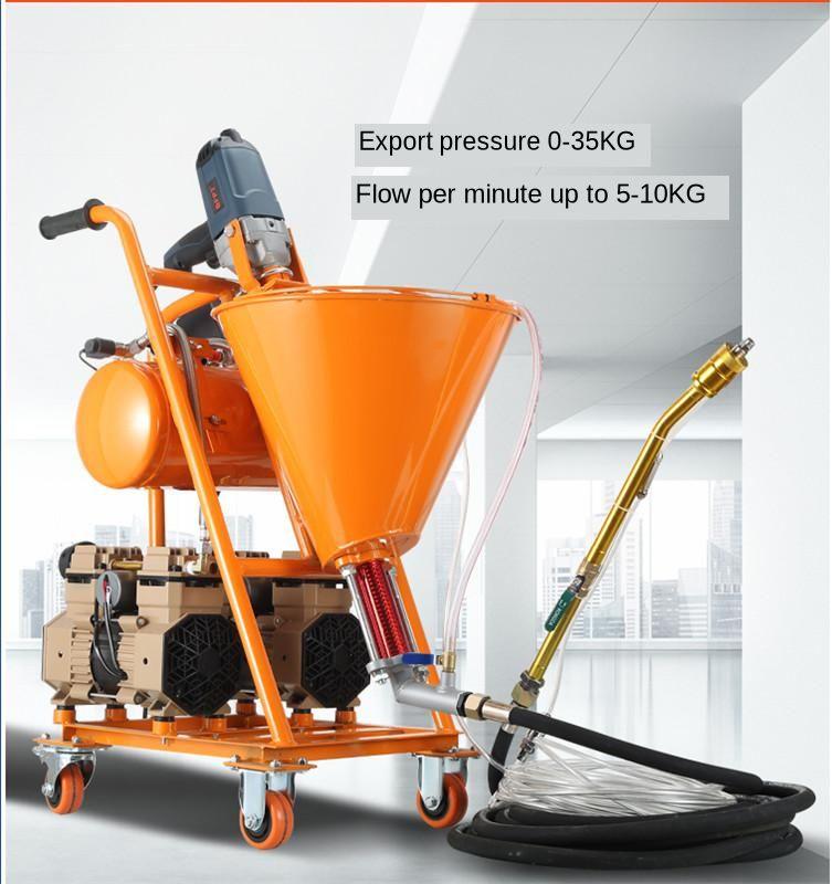 Putty High Pressure Spraying Machine Grouting Machine Grouter Cement Waterproof Mending Leakage Paint Plaster Putty Sprayer
