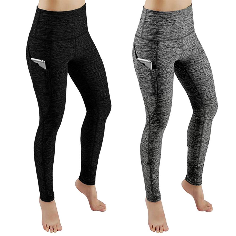Black Gray Women Leggings Pocket Sports Gym Running Athletic Pants Workout Fitness Leggings Women Clothes Trousers Pants Leggins