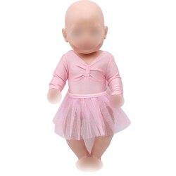 Большие размеры 40-43 см для ухода за ребенком для мам мальчиков американских кукол платье розовое кружевное балетное платье для новорожденн...