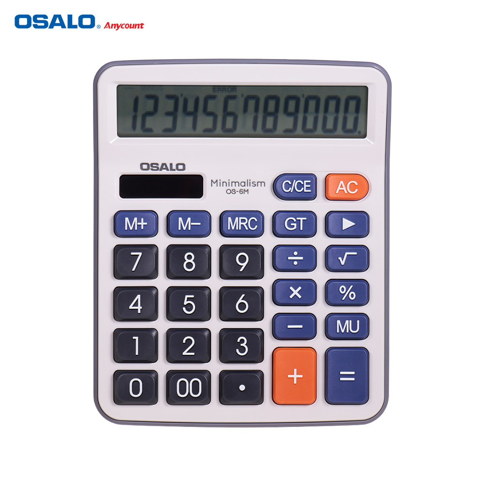 OSALO Desktop Electronic Calculator Standard Function Basic Counter With 12-Digits Large LCD Display Big Buttons Dual Power