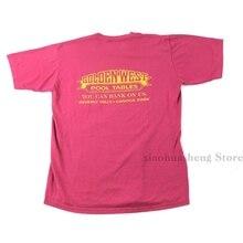 Camiseta Vintage de los años 90, tablas doradas de la piscina del Oeste, camiseta gráfica de billar, puntada única, 100%, Camiseta de algodón para hombres y mujeres tops tee