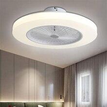 Потолочный вентилятор 220 В, светильник с дистанционным управлением, Современный домашний декор 58 см, Wi-Fi вентилятор+ лампа 110 В, потолочный светильник с управлением через приложение