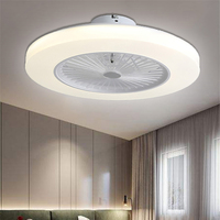 220V Ceiling fan with light dimming remote control Modern home decor 58cm Wi fi fan+lamp 110V APP control ceiling light