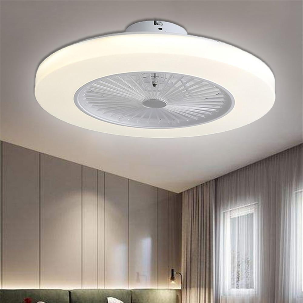 220V tavan vantilatörü ışık karartma uzaktan kumanda Modern ev dekor 58cm Wi-fi fan + lamba 110V APP kontrol tavan ışık