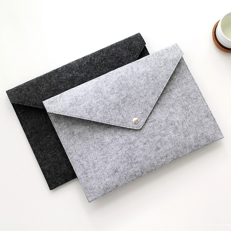 1PC A4 Big Capacity File Folders Felt Bags Business Briefcases For School Supplies Products Tablet Organizer Document Cases Gift