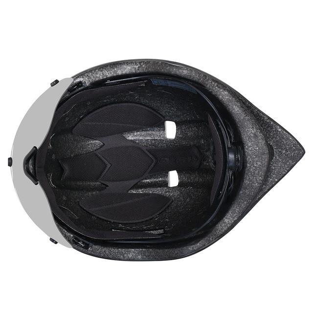 Cairbull ciclismo capacete aero tt corrida de estrada mtb capacete da bicicleta com óculos magnéticos pneumático capacete casco con gafas 3 lente 5