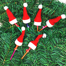Christmas-Hat Lollipop-Top Santa-Claus Mini for Candy-Cover Wraps Toppers-Decor Doll-Craft