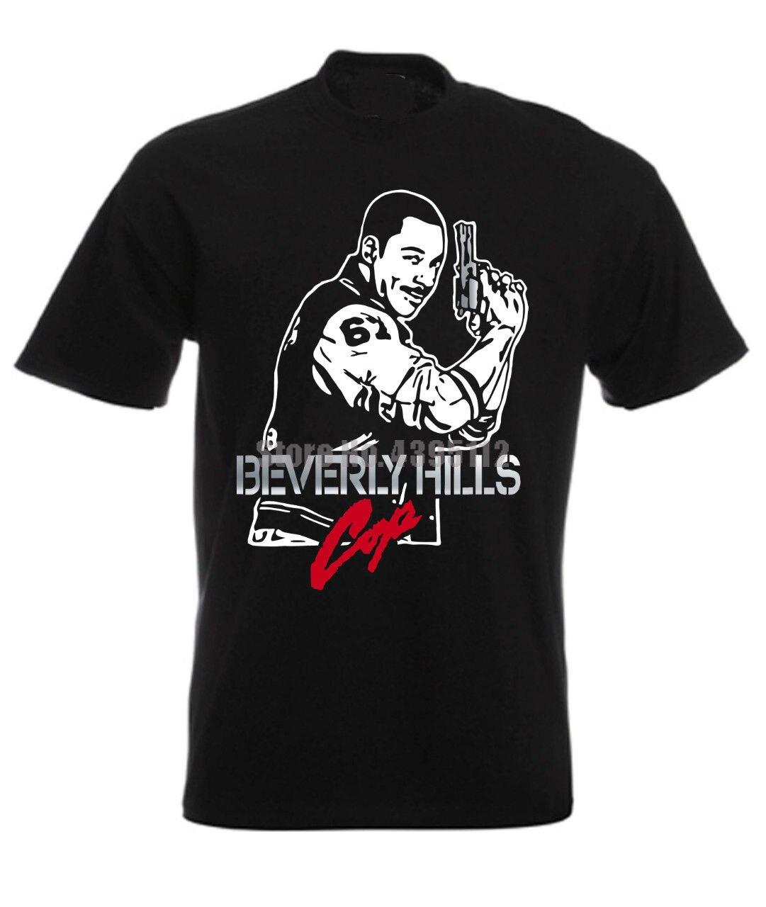 Beverly Hills Cop Eddie Murphy Axel Foley Retro Movie Men'S Tshirts Harajuku Top Tee Shirt Fashion 2019 T-Shirt Custom