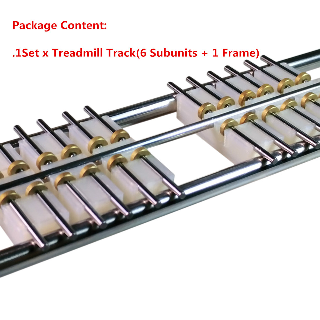 6Pcs 50cm 1:160 Model Train N Scale DIY Accessories Treadmill Track without Connecting Line for N Scale Model of Most Brands image
