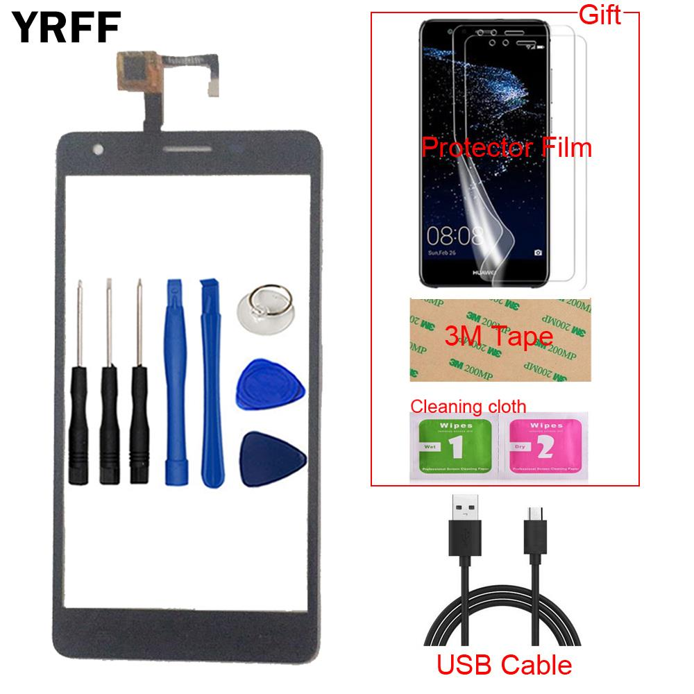 5.5'' Mobile Phone Front Touch For Cubot H2 Touch Screen Glass Digitizer Panel Lens Sensor Capacitive +Protector Film Tape
