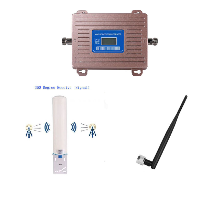 MOBILE 4G SIGNAL BOOSTER 2G 4G LTE SIGNAL REPEATER Celluar Signal Amplifier With Omni Antenna Full Set