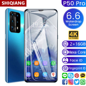 SOYES P50 Pro 6.6 Inch Waterdrop Screen Cell Phones Global Version Android 5000mAh 16GB ROM Smartphones Face ID Unlocked Phone