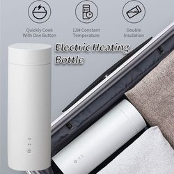 400ML/300W Portable Electric Heating Water Bottle For Travel Stainless Steel Water Bottle Intelligent Temperature Control