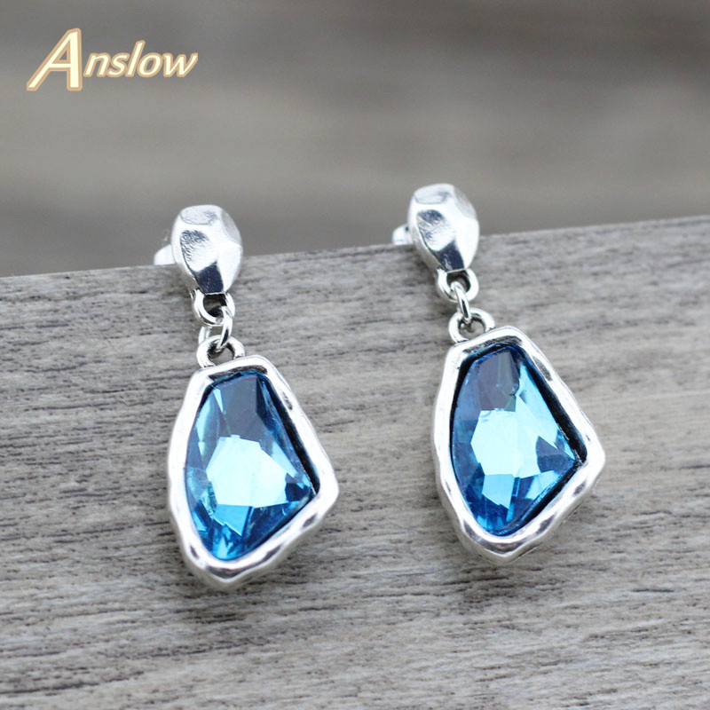 Anslow Fashion Jewelry Retro Charms Women Female Drop Crystal Earrings Personality Design Creative Earrings Wedding LOW0148AE