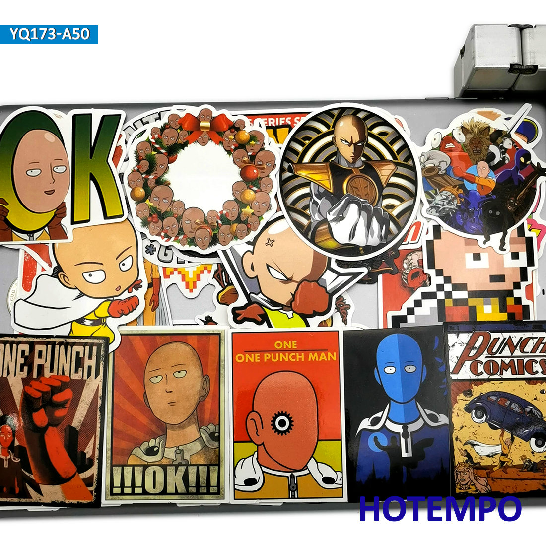 70PCS//SET Anime ONE PUNCH MAN PVC Stickers for Luggage Laptop Skateboard