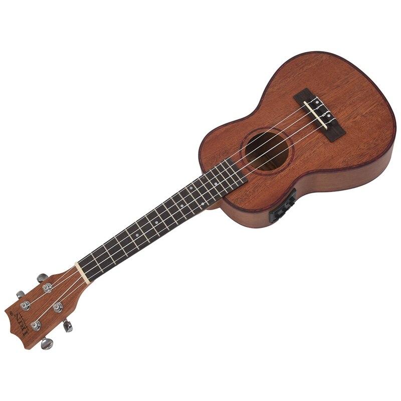 Irin 24 Polegada electroacoustic ukulele abalone escudo
