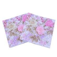 33*33cm 20 sztuk/partia kwiat trawy papieru Nakpin kolor drukowane serwetka papieru strona papieru urodziny wesele dekoracji