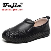 2021 Fujin płaskie buty ze skóry naturalnej Lady wkładane mokasyny obuwie damskie modne trampki wygodne ręcznie robione buty wiosna tanie tanio Na co dzień CN (pochodzenie) Na wiosnę jesień PRAWDZIWA SKÓRA Skóra bydlęca okrągły nosek RUBBER Wsuwane Dobrze pasuje do rozmiaru wybierz swój normalny rozmiar