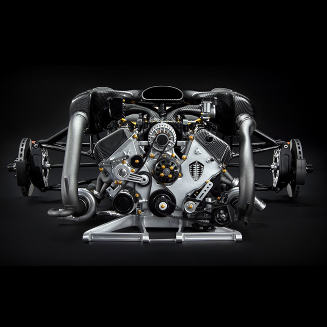 1:6 Simulation Koenigsegg ONE:1 Engine Model - Charcoal Grey(Pre-SALE,Need 1 Month To Produce)