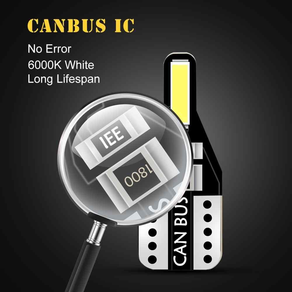 10 Pcs T10 194 168 LED CANBUS W5W LED Tanpa Kesalahan Interior Lampu Mobil Auto Lampu Membaca Dome License Plate lampu Putih 12V