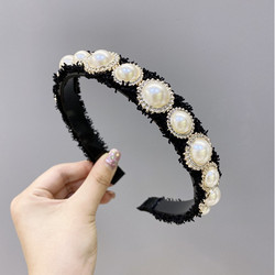 Fashion hair accessories women size pearl headband princess temperament wash face non-slip headband wild girl hair band headwear