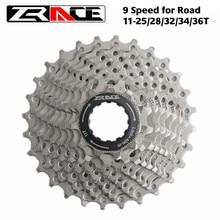 Zrace bicicleta cassete 9 velocidade estrada/mtb bicicleta roda livre 11-25t/28t/32t/34t/36t, compatível com alivio/acera/sora