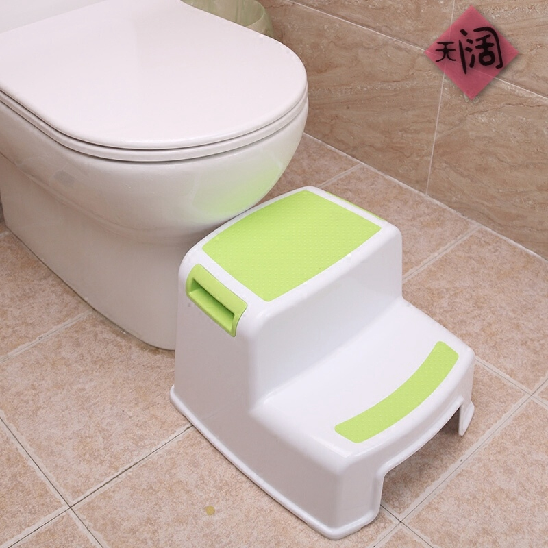 2 Step Stool For Kids - Childrens,Toddler Stool With Slip Resistant Soft Grip For Safety As Bathroom Toilet Potty Training Stool