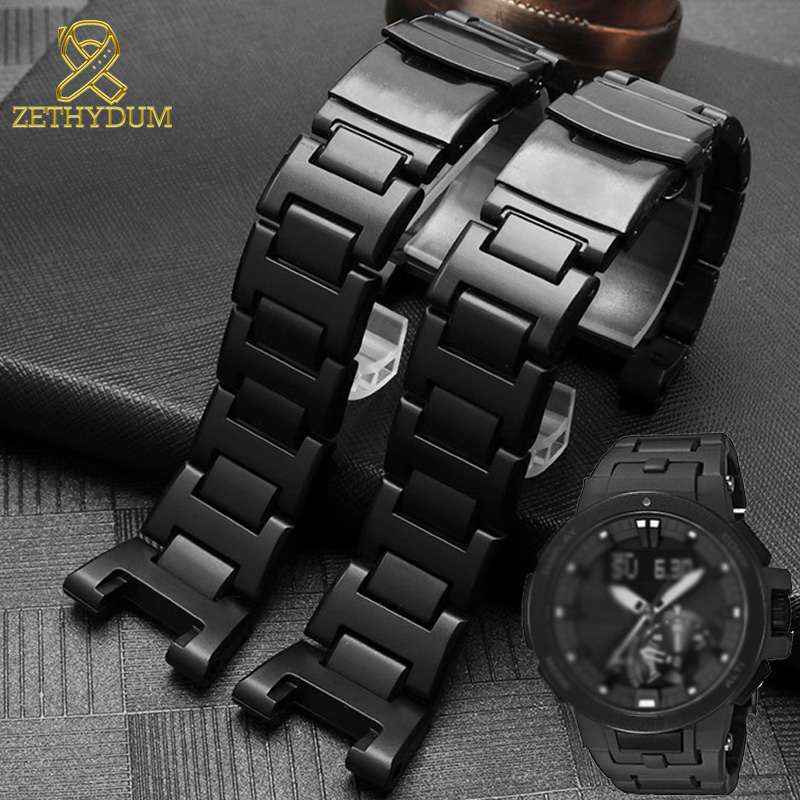 PVC Plastic Wathband For Casio PRW-7000FC Watch Strap High Quality Replacement Watch Bracelet Mens Light Sport Wristwatches Band